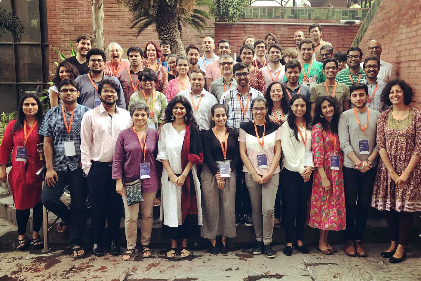 Group photo of sttendees from the 2019 SIGCHI summer school in New Delhi.